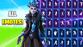! THE ICE QUEEN SKIN SHOWCASE WITH ALL FORTNITE DANCES/EMOTES
