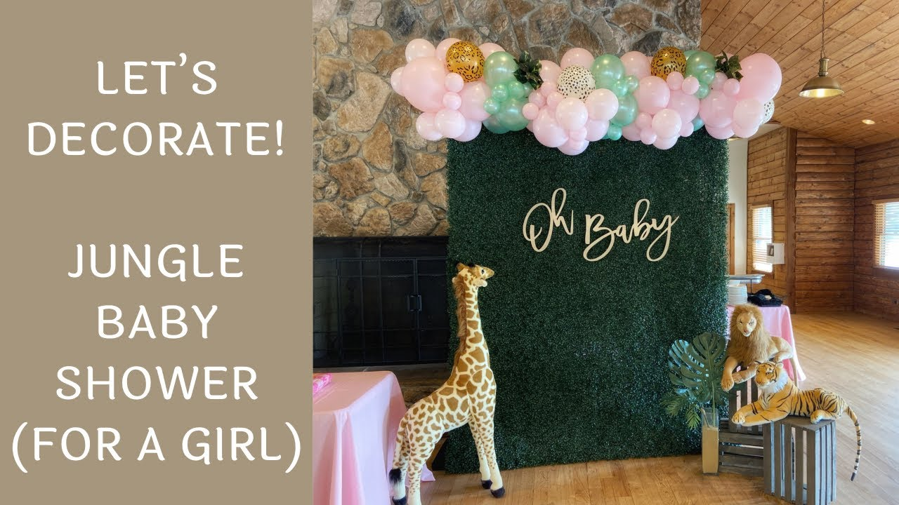 Setup With Me - Jungle Baby Shower Decorations   Time-Lapse Video