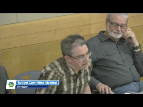 Eugene Budget Committee Meeting: May 9, 2018
