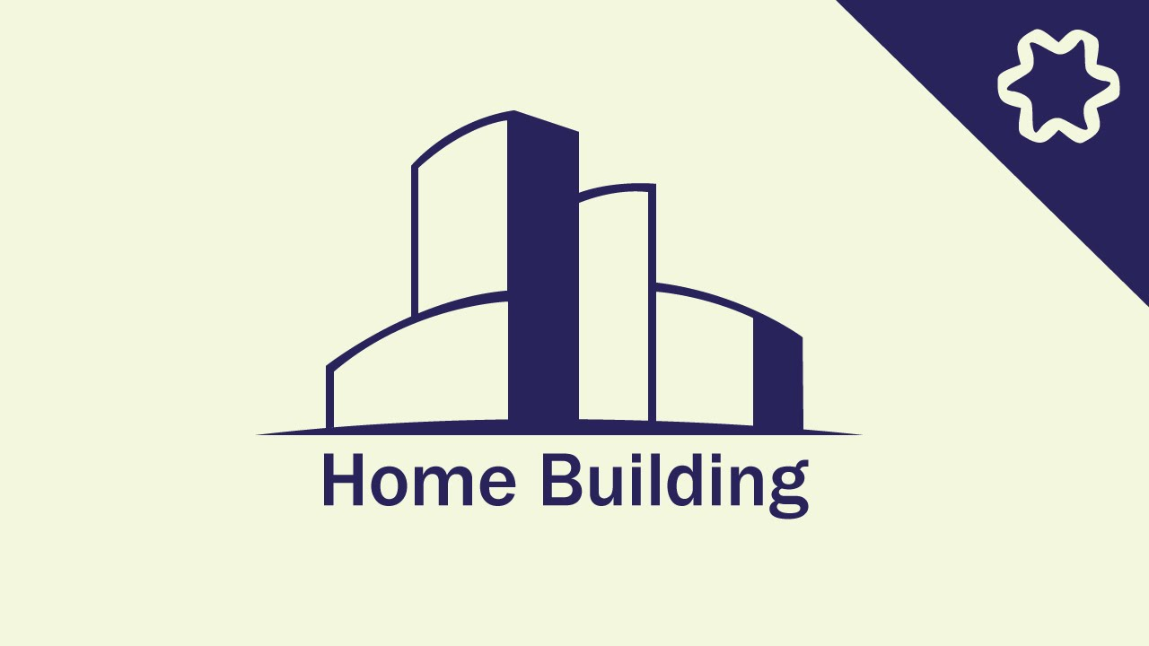 Custom Home Building Logo Design In Adobe Illustrator Cc City Logo Design Tutorial Youtube