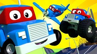 - Carl The Super Truck THE SUPER LIVE Car City Police Cars Trucks Cartoons For Kids Official