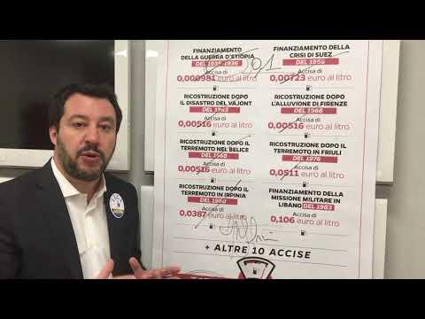 """SALVINI: """"CANCELLEREMO 7 ACCISE SU BENZINA, SUBITO!"""""""