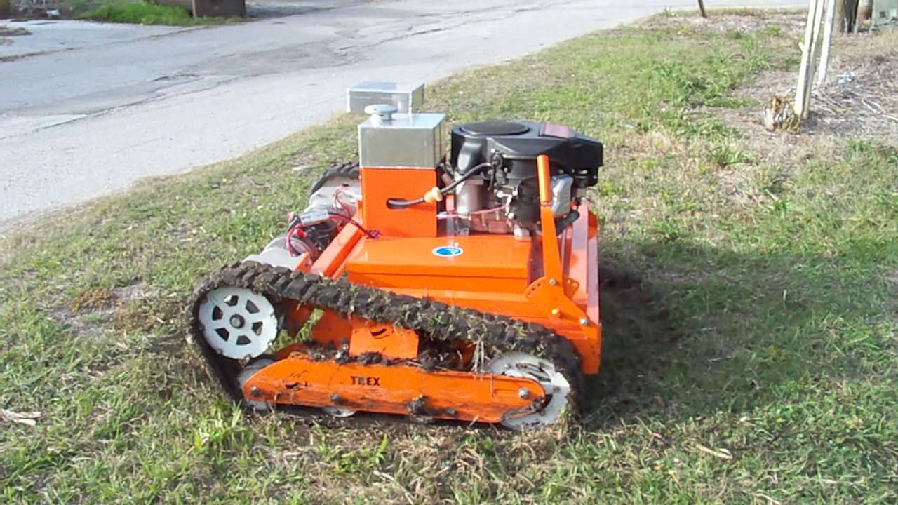 t rex raw power slope mower youtube. Black Bedroom Furniture Sets. Home Design Ideas