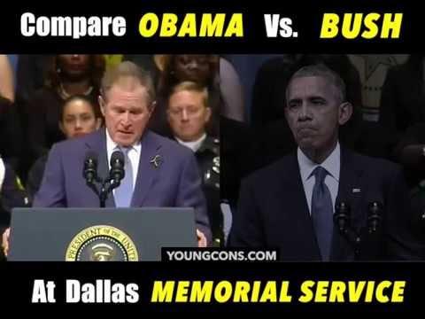 "Dallas Memorial: ""George W. Bush and Barack Obama--Quite A Contrast"""