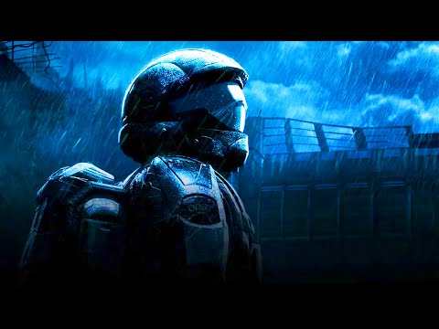 🎧 Thunder and Rain with ODST Sad Piano 8 hours! Sleep and Relaxation