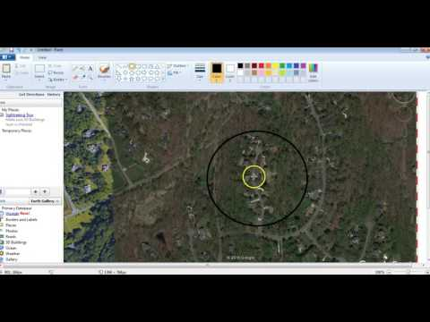 how to get a distance radius on google maps