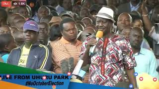 Raila's AWAITED ANNOUNCEMENT at Uhuru Park. He ISSUES DIRECTION to NASA Supporters.