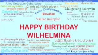 Wilhelmina   Languages Idiomas - Happy Birthday