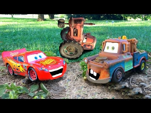 Disney Pixar Cars Lightning McQueen & Mater Tractor Tipping Cars Game Disney Short Tall Tale Movie |