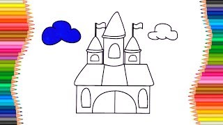 How to Draw Fairy Castle of a Doll | Coloring Book for Kids