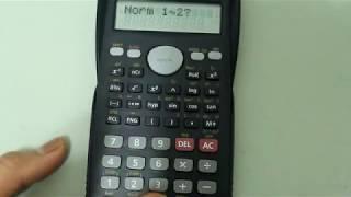 Casio Scientific Calculator Showing Answers in Scientific Notation