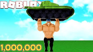 GETTING GIANT and STRONG l Lifting Simulator Roblox