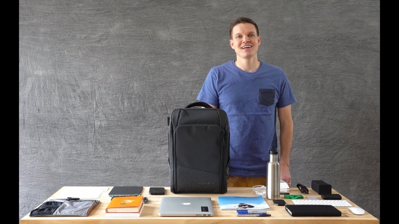 The NOMATIC Backpack - Product Walk Through   How to Pack - YouTube 1c1cb142280db