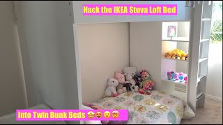 Ikea Smastad Stuva Loft Bed Hack To Twin Bunk Beds For Any Small Space And Tiny Living Youtube