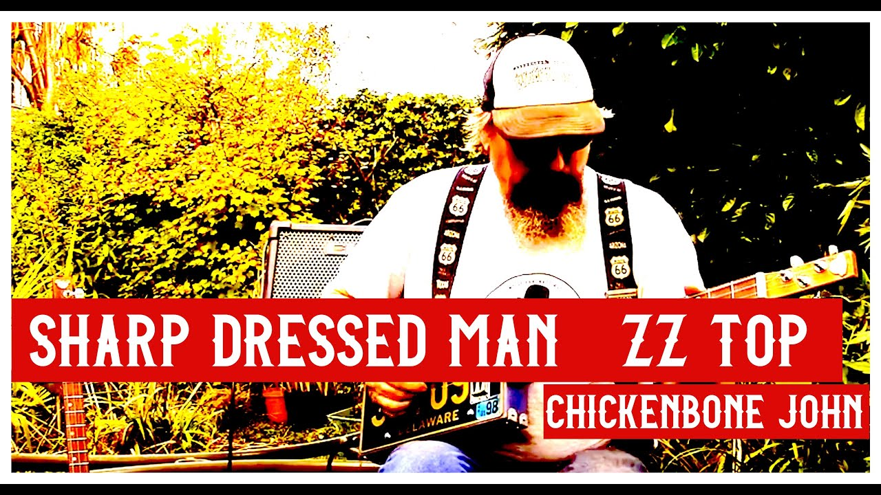 Zz Top S Sharp Dressed Man Played On 3 String Licence Plate Guitar