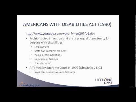 LifeLong Links Webinar Series: Disability Etiquette ADA 101