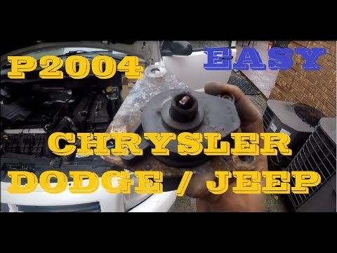 How to repair p2004 in Dodge/Chrysler/Jeep     almost for free in this case  Dodge Caliber 2 4L