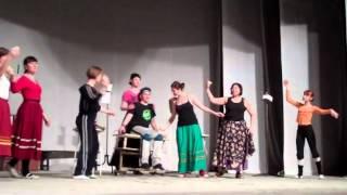 Репетиция спектакля Семь невест и один жених, театр Музыкальной Комедии