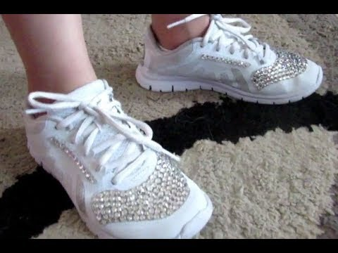 How to DIY and add Rhinestones to your Sneakers - YouTube d083d91e0