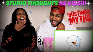 "TheOdd1sOut ""Stupid Things [my sister] Believed as a Kid"" REACTION!!!"