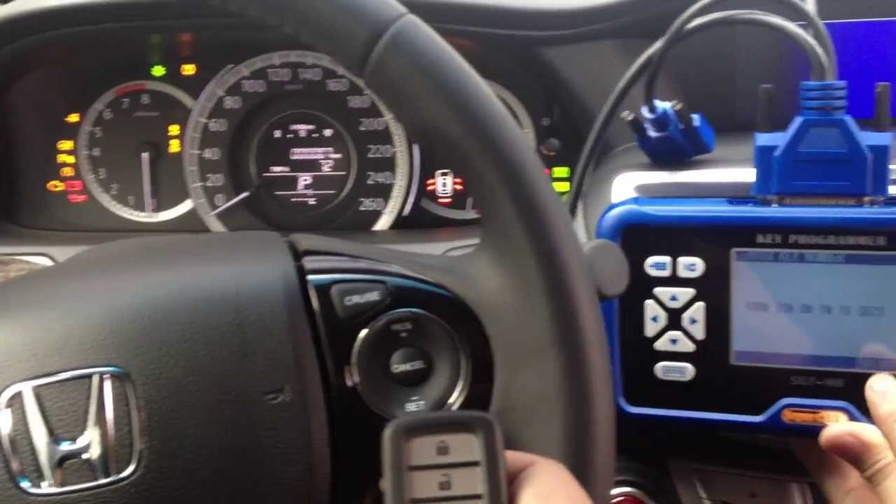 How to program smart key on 2014 Honda Accord with SuperOBD SKP-900 SKP900  Key programmer