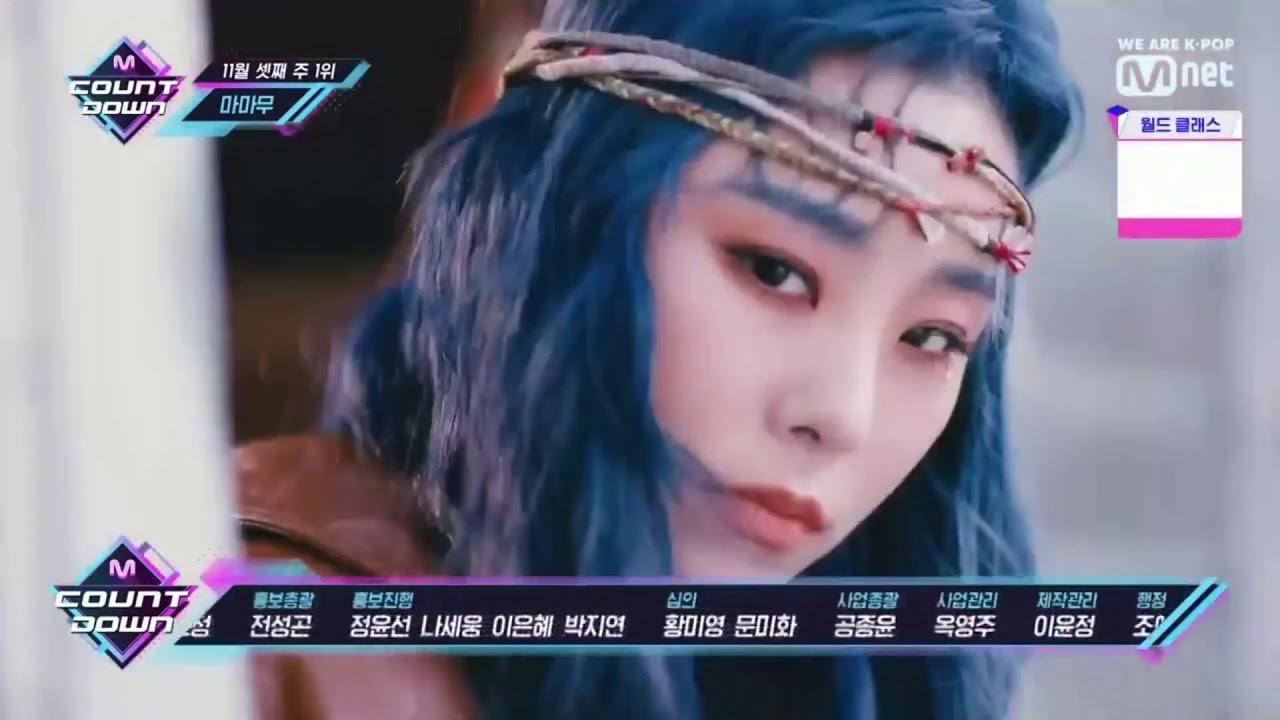 Mamamoo No.1 Winner 3rd Week of November M Countdown Special (11/21/2019)