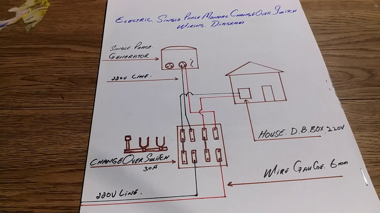 Electric Single Phase Manual Changeover Switch Wiring