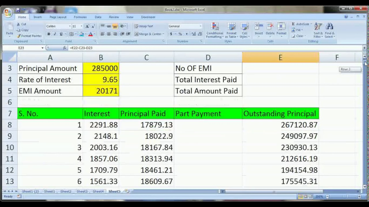 loan calculator find interest and principal payments on a loan in