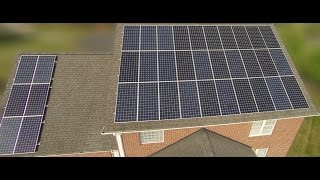 Solar Install - 15.7kW Roof System - Final Compilation (Time lapse, drone shots, photos)