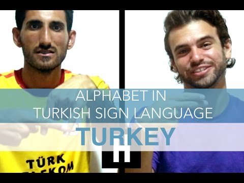 Alphabet In Turkish Sign Language
