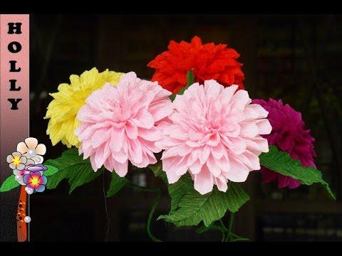 How to make paper flowers Dahlia