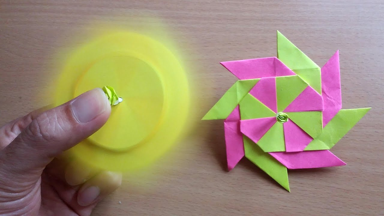 Diy Easy How To Make Fidget Spinner From Post It Note Youtube