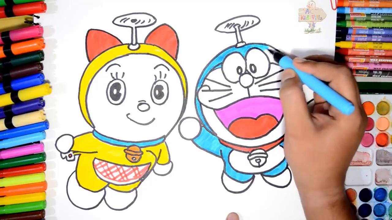 Vẽ Doraemon và Dorami ngỗ nghĩnh trong truyện Doraemon | Dạy bé vẽ