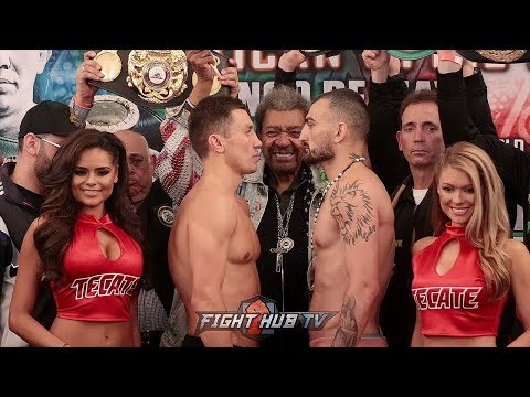 MEXICAN STYLE 2! GENNADY GOLOVKIN VS VANES MARTIROSYAN FULL WEIGH IN & FACE OFF VIDEO