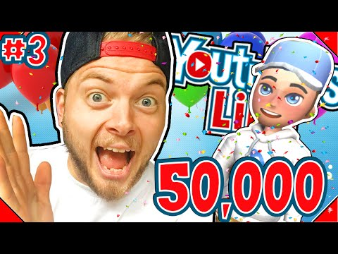 50,000 SUBSCRIBERS! - YOUTUBERS LIFE! #3 - | Gameplay |