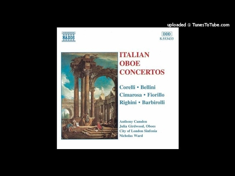 John Barbirolli (after Corelli) : Concerto In A Major For Oboe And String Orchestra