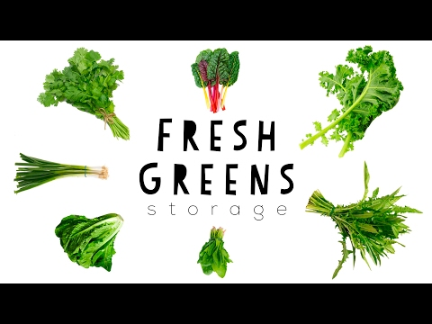 🌱 HOW TO KEEP GREENS FRESH 🌱