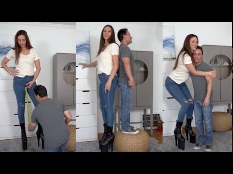 Download The Tall Blind Date - 2  Reaction  Tall Woman Short Man  Tall Woman  Height Comparison  Tall Woman