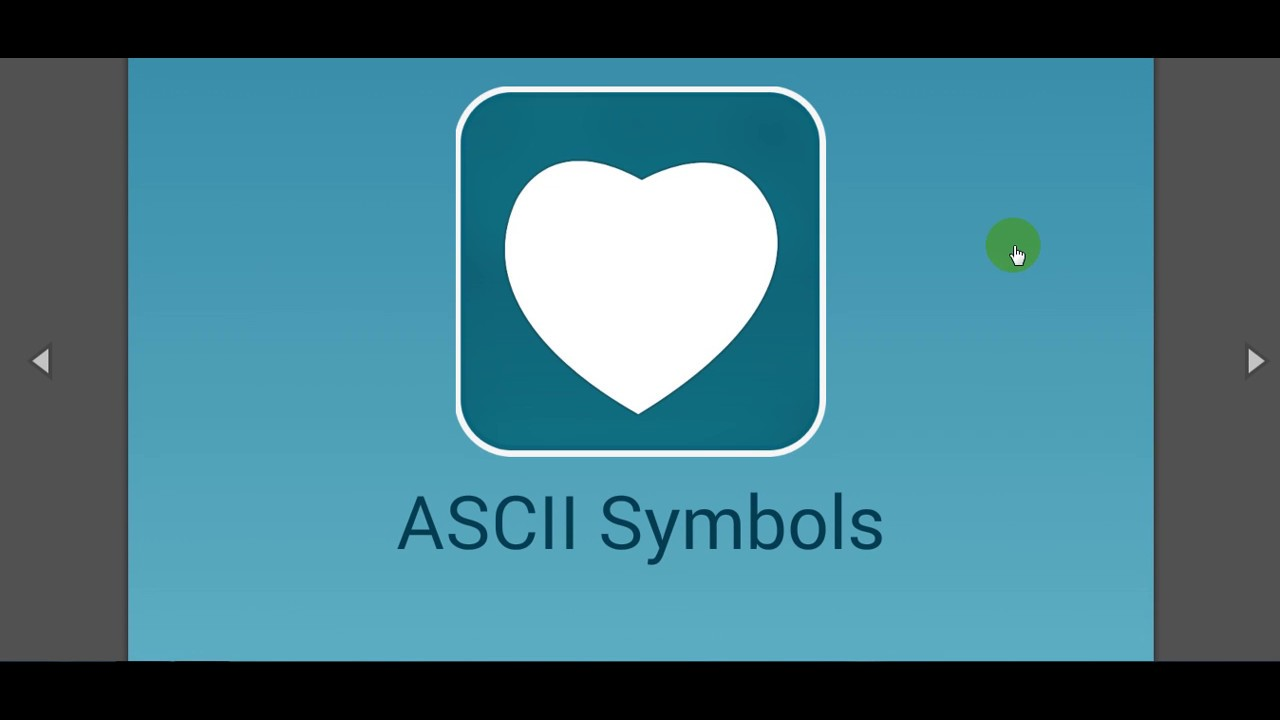 Ascii Text Symbols Top Android App Free Download Youtube