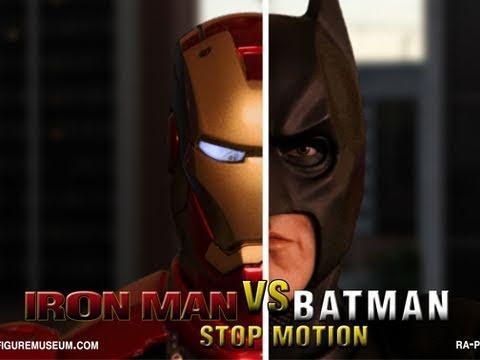 Iron Man vs Batman: Interactive Stop Motion Parody ᴴᴰ