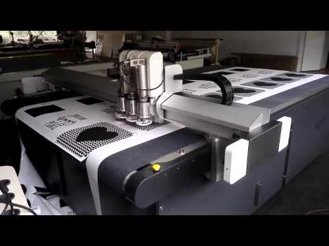 IECHO Registration Cutting with Camera for Printed advertising  Fabric or banner