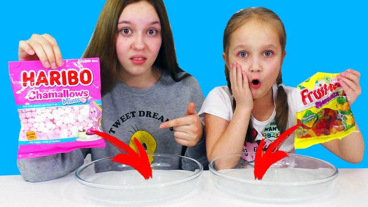 Битва Слаймов ИЗ ЕДЫ С ВКУСНЯШКАМИ / Slime Challenge из случайных ингредиентов
