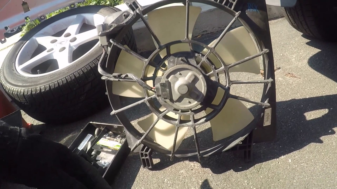 RSX Type S Radiator Fan Replace YouTube - Acura rsx radiator