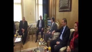 قناة السويس الجديدة : وزير الكهرباء يزور القناة الجديدة ويجتمع بالفريق مميش