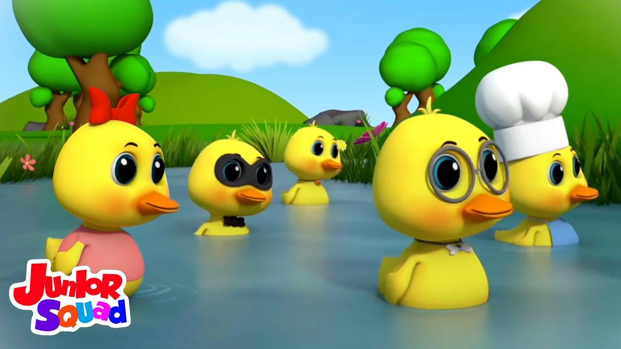 Bebek kecil yang lucu | Video edukasi anak | Lagu anak | Junior Squad Indonesia | Bayi sajak