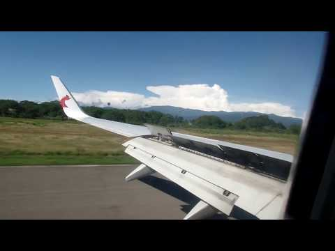 Px 083: Air Niugini Port Vila-Honiara-Port Moresby, landing in Honiara