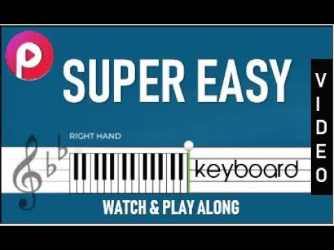 KEYBOARD NOTES - SUPER EASY - SLOW - HOW TO PLAY Malare Mounama TAMIL SONG PIANO