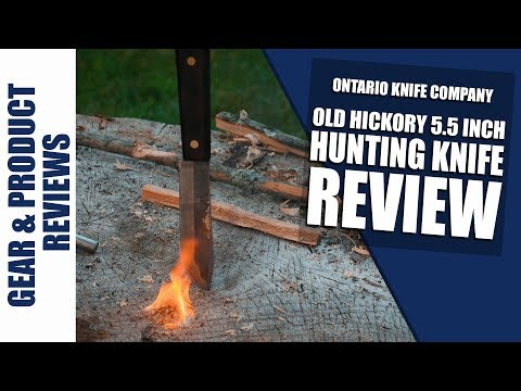New old hickory 5.5 inch hunting knife full field review