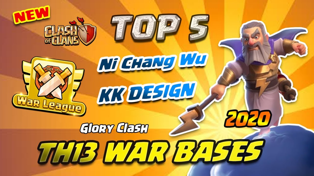 *NEW* Top5 Ni Chang Wu Th13 CWL War Bases 2020/KK Design/Anti Zap/Anti 2-3 Star/Clash of clans #525