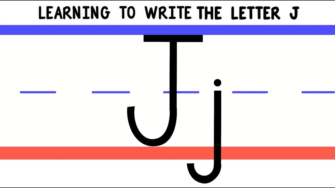 write the letter j - abc writing for kids - alphabet handwriting by